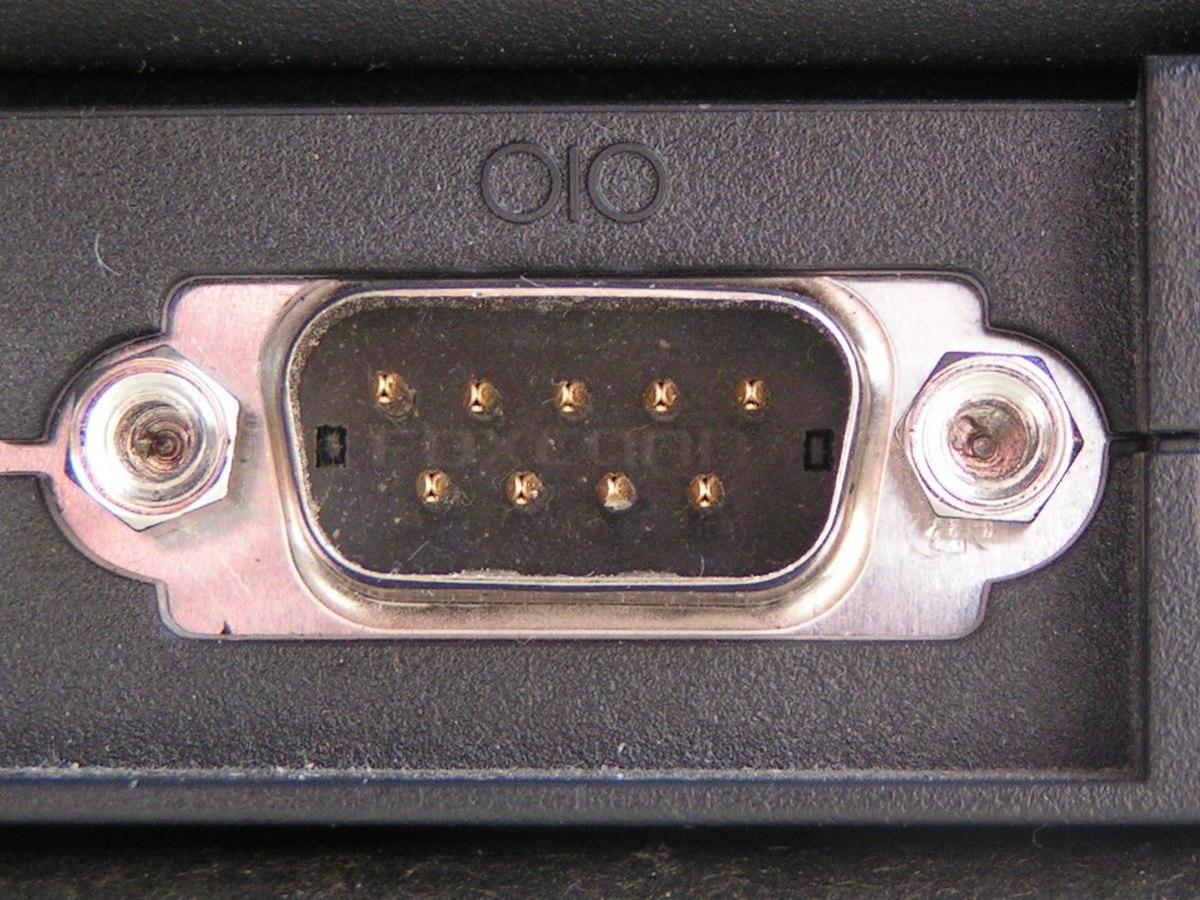 Photo of an RS232 Serial/COM Port